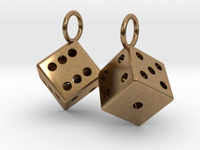Charm: 2 Dice in Natural Brass