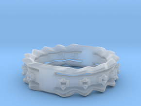 Wave Ring Size8 in Smoothest Fine Detail Plastic