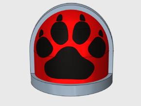 Paw Print - Gen7:Standard Shoulder x10 in Smooth Fine Detail Plastic