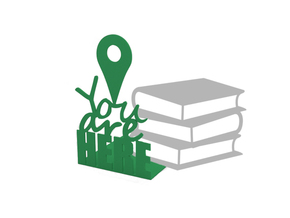 "Bookend ""You are here"" in Green Strong & Flexible Polished"