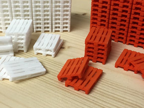 1:50 EUR-pallets, 50 ex. in White Natural Versatile Plastic