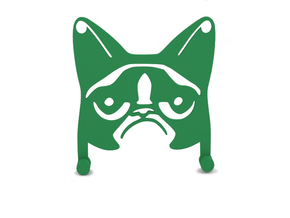 Hanger Grumpy Cat in Green Strong & Flexible Polished