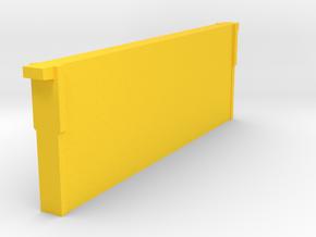 Medium Frame & Comb 1/8 scale in Yellow Processed Versatile Plastic
