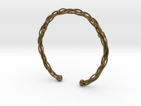 Plastic twist wrist band (M) in Natural Bronze