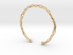 Plastic twist wrist band (M) in 14k Gold Plated Brass