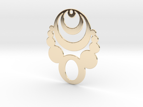 Crop Circle Statement Pendant in 14k Gold Plated