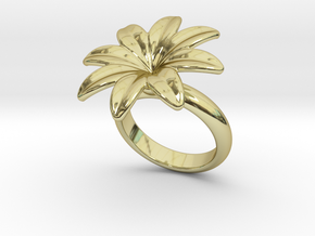 Flowerfantasy Ring 21 - Italian Size 21 in 18k Gold Plated Brass