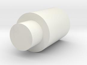 Flat Nub Für Tippmann M4 in White Natural Versatile Plastic