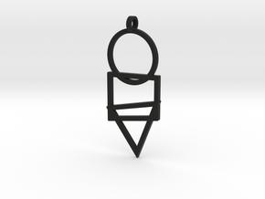 Cisqutri Pendant in Black Natural Versatile Plastic