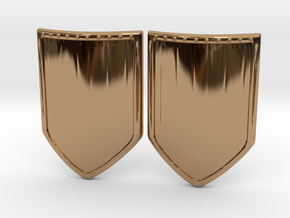 Shield 3 Earing in Polished Brass