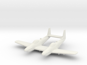 North American P-82B/F-82 'Twin Mustang' in White Natural Versatile Plastic: 1:200
