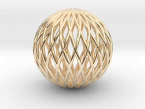 Math Sphere in 14k Gold Plated Brass