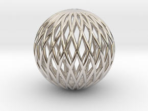 Math Sphere in Rhodium Plated Brass
