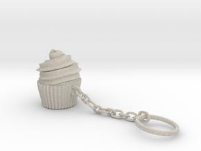 Cupcake Keychain in Natural Sandstone