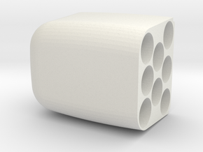 Box insert for 8x AA batteries, part 1 of 2 in White Natural Versatile Plastic