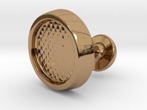Custom Cufflink #01 in Polished Brass
