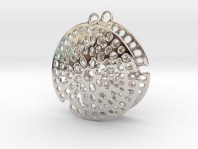 Radiolarian earrings in Rhodium Plated Brass