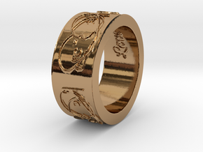 'Beautiful Love' Ring--look great on a chain! in Polished Brass: 6.5 / 52.75