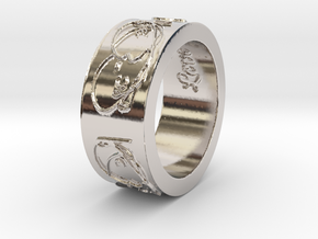 'Beautiful Love' Ring--look great on a chain! in Rhodium Plated Brass: 6.5 / 52.75