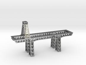 "3.5"" micro metal crane in Natural Silver"