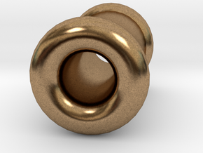 4 gauge (5mm) Double Flare Ear Tunnel  in Natural Brass