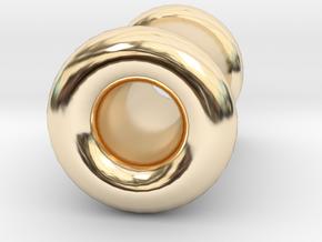 4 gauge (5mm) Double Flare Ear Tunnel  in 14k Gold Plated Brass