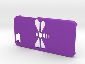 Bee iPhone 5/SE Case in Purple Processed Versatile Plastic