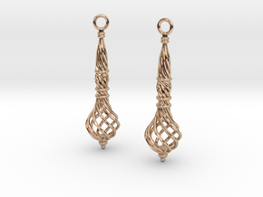 Bound Coil Earrings in 14k Rose Gold Plated
