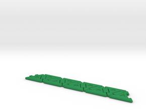 Tri-Hexaflexagon (3 symbols) in Green Processed Versatile Plastic