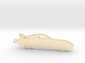 Toyota Supra MK4 keychain in 14k Gold Plated Brass