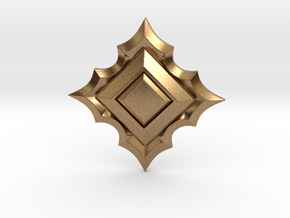Jeweled Star 01 - 40mm in Natural Brass
