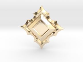 Jeweled Star Empty - 50mm in 14k Gold Plated Brass