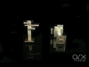 FLW Cufflinks in Polished Silver