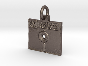 Floppy Disk in Polished Bronzed Silver Steel