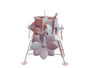 Apollo Lunar Module in White Strong & Flexible