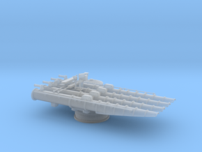1/96 USS 21in Quadruple Tube Mounts in Smooth Fine Detail Plastic