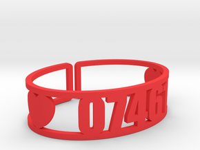 Louemma Zip Code Cuff in Red Processed Versatile Plastic