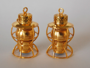 Dressel Lamp Earrings or charms in 18K Gold Plated