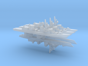 Takanami-class destroyer x 5, 1/6000 in Smooth Fine Detail Plastic