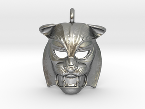Tiger kabuki-style  Pendant in Natural Silver