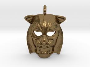 Tiger kabuki-style  Pendant in Natural Bronze