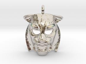 Tiger kabuki-style  Pendant in Platinum