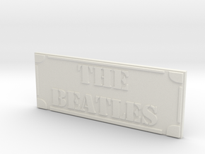The Beatles in White Natural Versatile Plastic