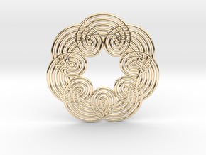 0535 Motion Of Points Around Circle (5cm) #012 in 14k Gold Plated Brass