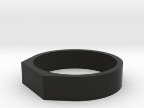 Anello Troco 2 in Black Natural Versatile Plastic