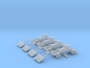 285th Husky Route Clearance Vehicles (4) in Smoothest Fine Detail Plastic