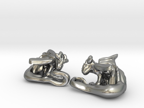 Cuddley Baby Dragons in Natural Silver