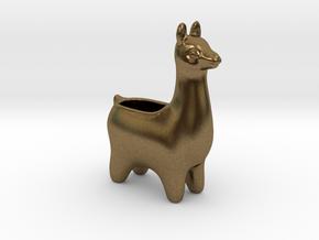 Llama Planters - Small in Natural Bronze