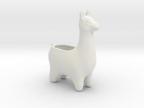 Llama Planters - Small in White Natural Versatile Plastic