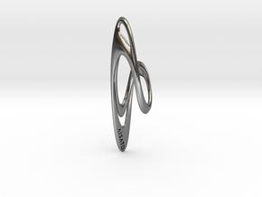 Loop Earring or Pendant top  in Polished Silver